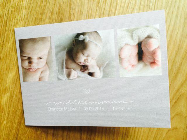 geburtskarte sendmoments baby maedchen produktetest klassisch vintage