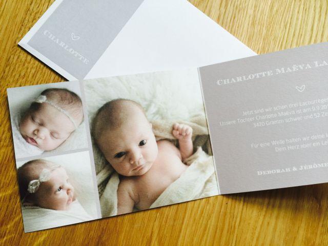 geburtskarte sendmoments baby maedchen produktetest neugeboren