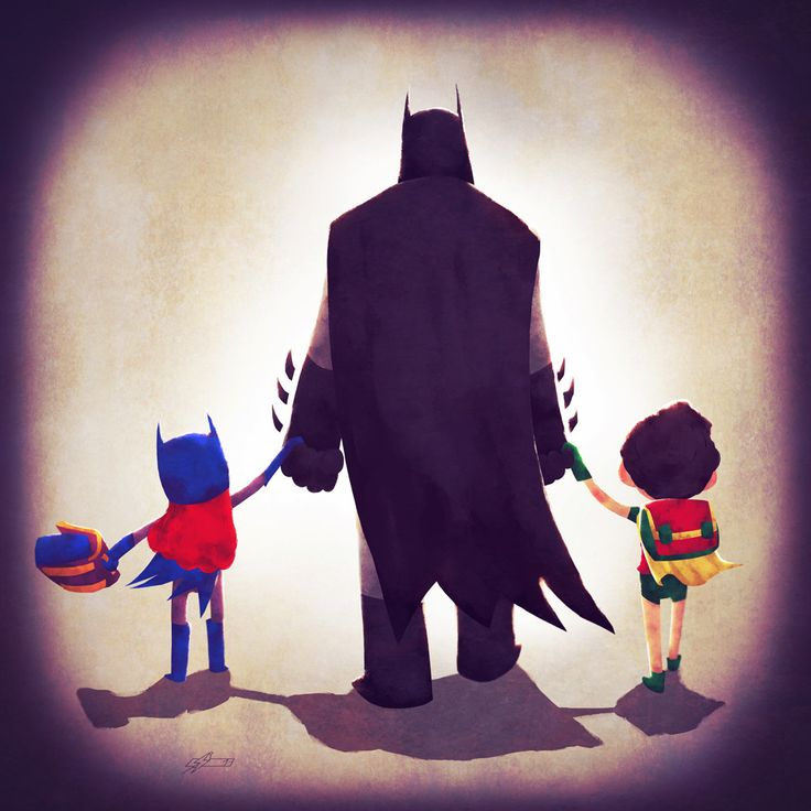 Batman Superhelden Eltern