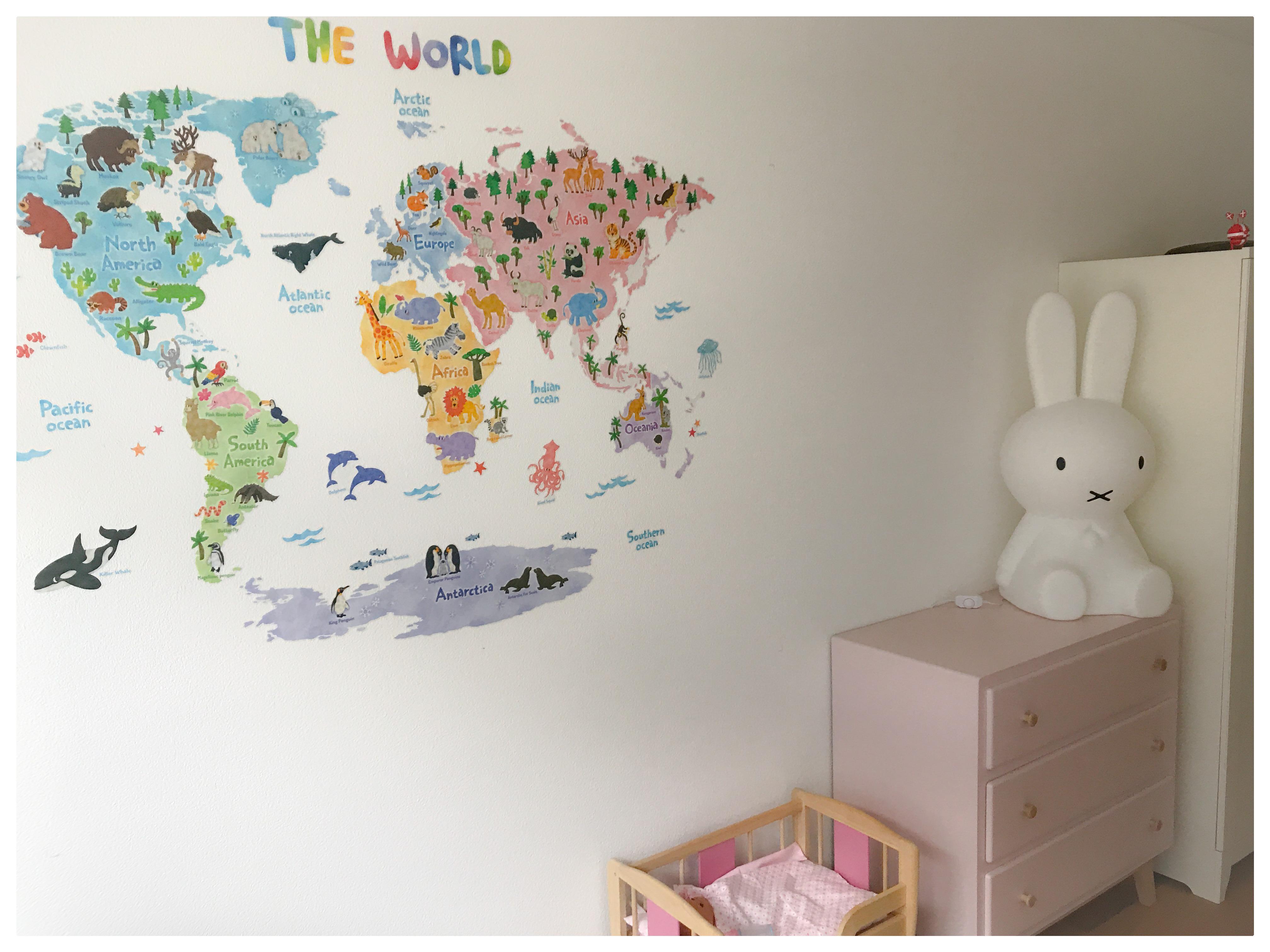 Großartig Wandtattoo Weltkarte Foto Von Img_9800kinderzimmer Genderneutral Bruder Schwester Einrichtung Scandi-style Miffy-lampe